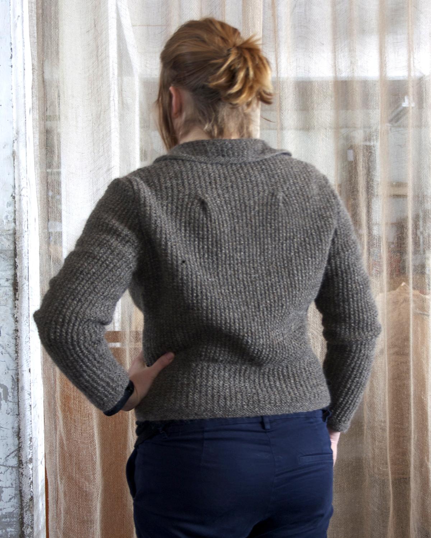 Jacka med vid rygg från 60-talet Klassikt 2-tr brungrå 100 % svensk fårull