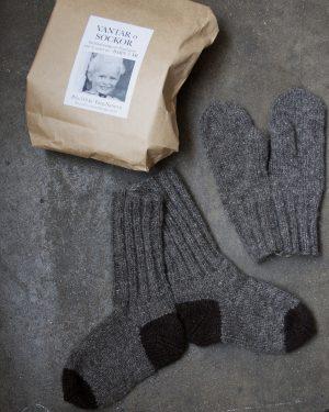Filtmakeriets finullsgarn Beskrivning vantar och sockor 3 år Mörkbrun 1-trådigt 100 % svensk fårull