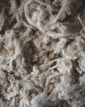 Filtmakeriets Finull/gobelängull Naturvit 100 % svensk fårull