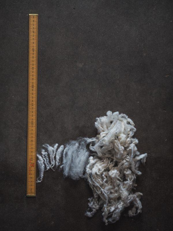 Filtmakeriets Finull/gobelängull Naturvit 100 % svensk fårull Ullstapel och tesad ull