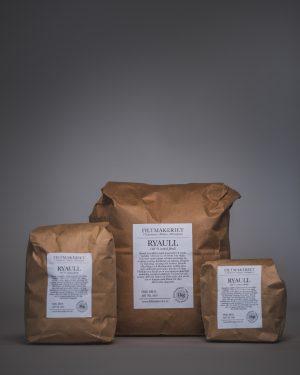 Filtmakeriets Ryaull 100 % svensk fårull 1 kg / 3 hg / 1 hg