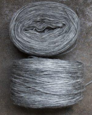 Filtmakeriets klassiska förgarn grå 100 % svensk fårull