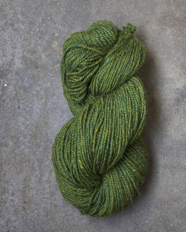 Filtmakeriets tweed Grön 2-trådigt 100 % svensk fårull