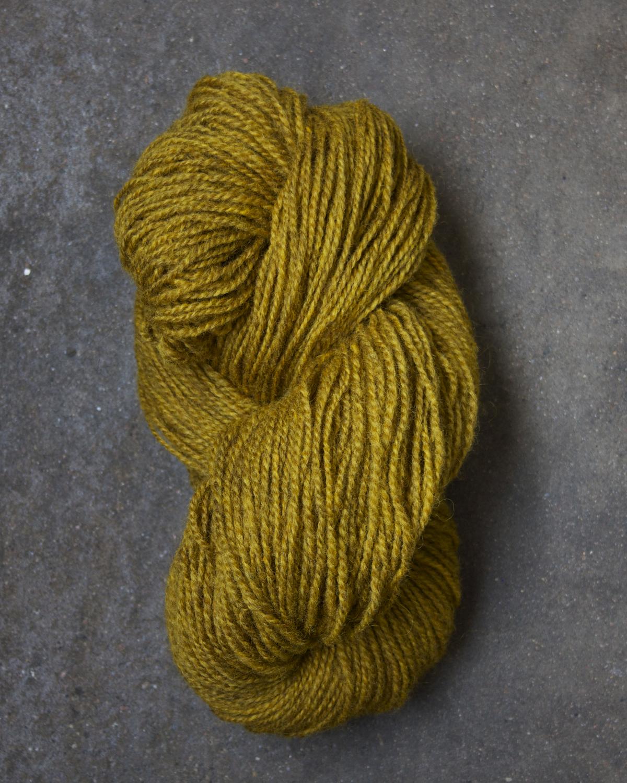 Filtmakeriets tweed gul 2-trådigt 100 % svensk fårull