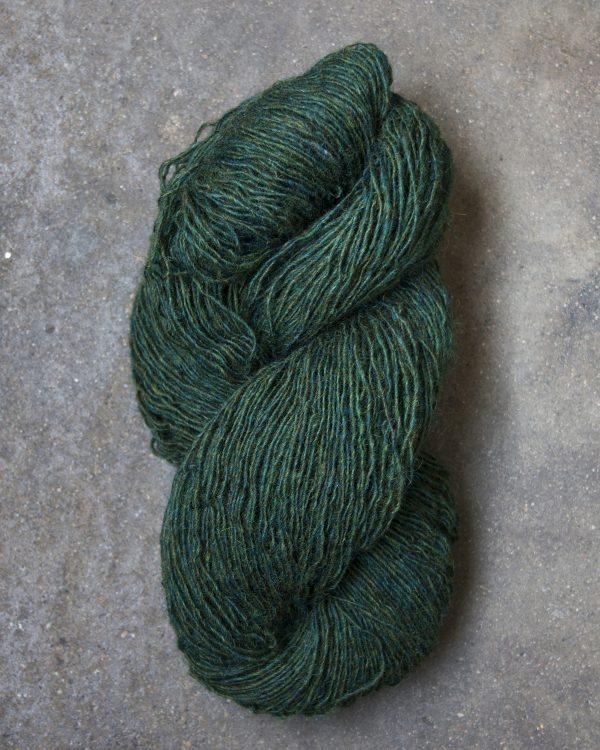 Filtmakeriets tweed Mörkgrön 1-trådigt 100 % svensk fårull