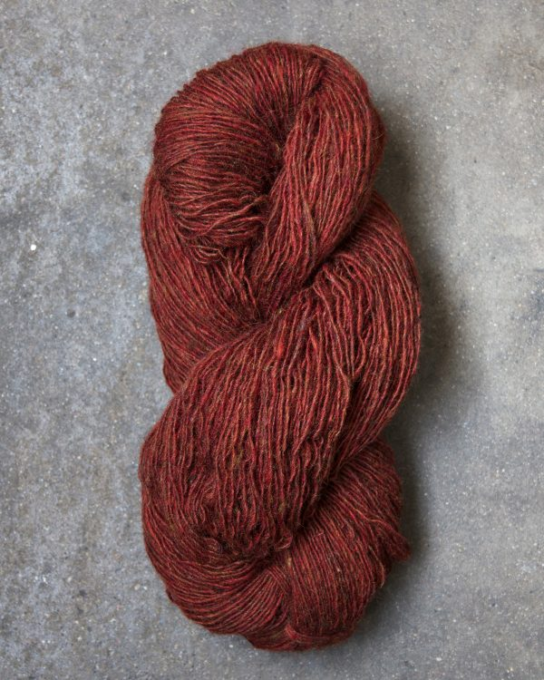 Filtmakeriets tweed Roströd 1-trådigt 100 % svensk fårull