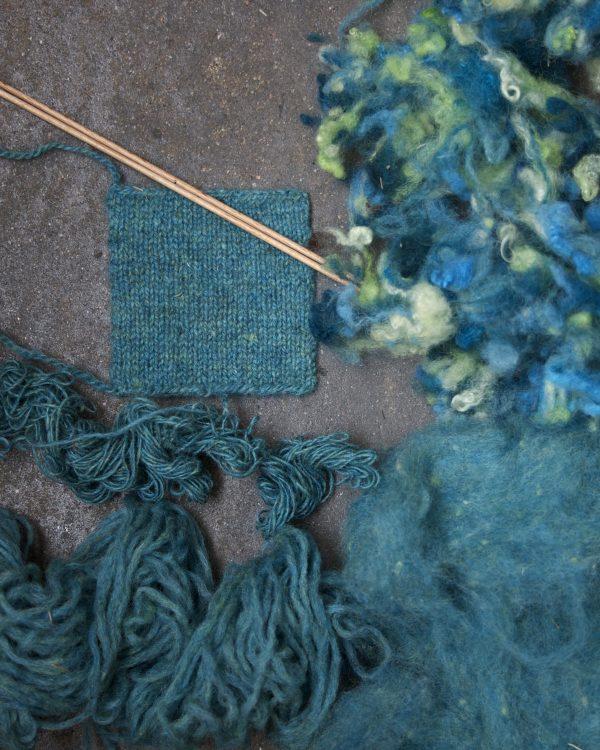 Filtmakeriets tweed turkos Från ax till limpa