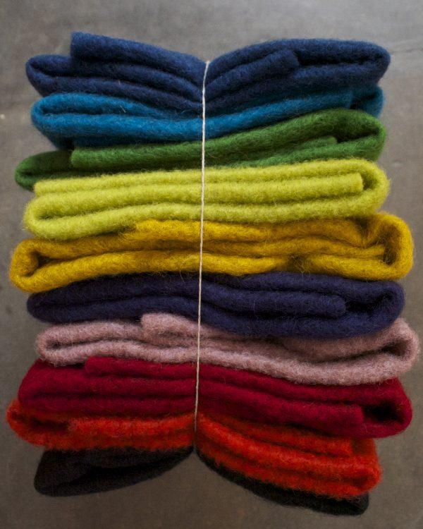 Filtmakeriets CLEO färgad nålfilt 10-pack för tovning