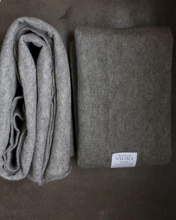 Filtmakeriets LECA grå. Nålfilt för tovning av 100 % svensk fårull