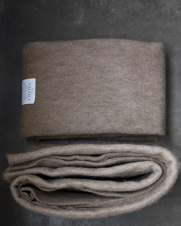 Filtmakeriets SVIA ljusbrun. Nålfilt för tovning av 100 % svensk fårull