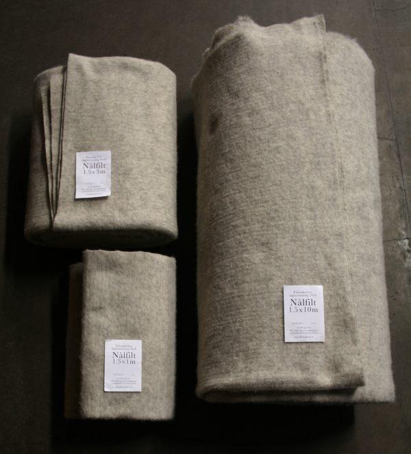 Filtmakeriets nålfilt av 100% svensk fårull