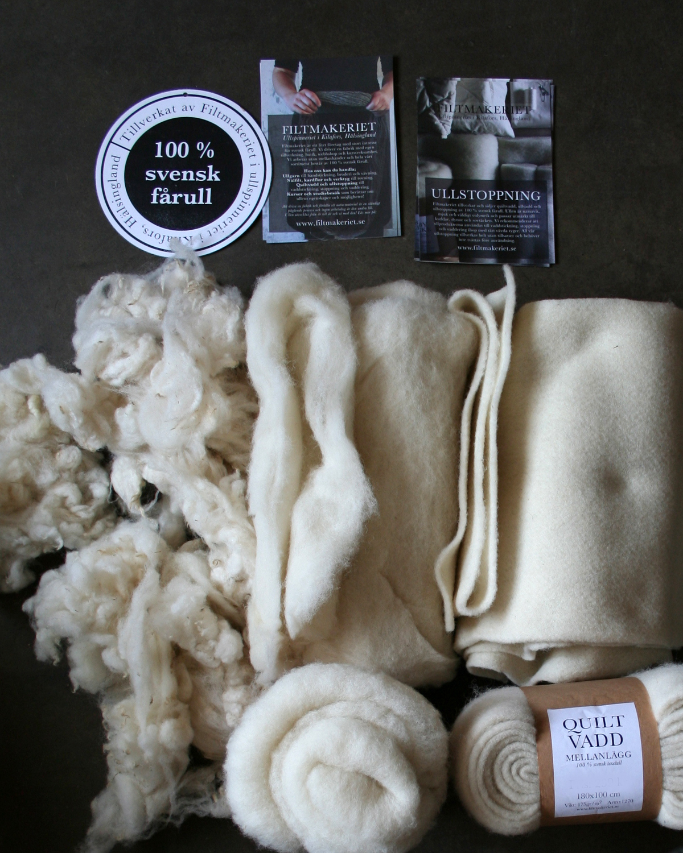 Stoppa dina föremål med 100 % svensk fårull från Filtmakeriet