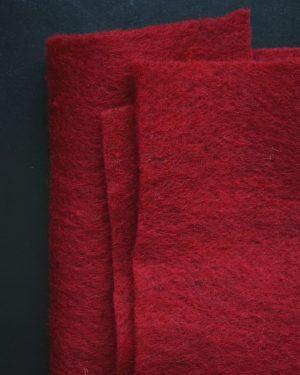 CLEO Rödmelerad nålfilt Filtmakeriet