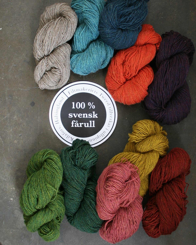 Filtmakeriets tweed 10 färger 2tr
